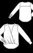 Блуза з запахом і видовженою спинкою - фото 3