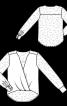 Блуза з асиметричним низом і драпіровками - фото 3