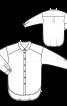 Блузка-сорочка із заокругленим низом - фото 3