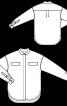 Блуза просторого крою із потайною застібкою - фото 3
