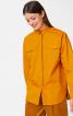 Блуза просторого крою із потайною застібкою - фото 1
