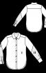 Блузка-рубашка с полупрозрачными рукавами - фото 3