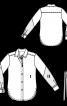 Блузка-сорочка з двоколірними рукавами - фото 3