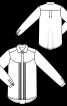 Блузка сорочка з потайною застібкою - фото 3