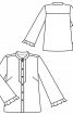Блузка прямого крою з широкими рукавами - фото 3