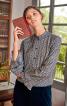 Блузка прямого крою з широкими рукавами - фото 1