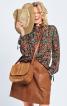 Блузка в стилі 70-х з коміром-рюшем - фото 1