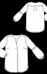 Блуза простора зі складкою на переді - фото 3