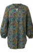 Блуза просторого силуету з пишними рукавами - фото 2