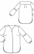 Блуза просторого силуету з пишними рукавами - фото 3