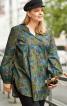 Блуза просторого силуету з пишними рукавами - фото 1