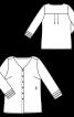 Блуза-рубашка с V-образным вырезом - фото 3