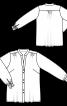 Блуза-сорочка з бантами на манжетах - фото 3