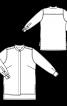 Блуза сорочкового крою із супатною застібкою - фото 3