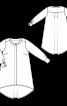 Блуза А-силуэта с асимметричным низом - фото 3