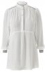 Блуза сорочкового крою з коміром-стійкою - фото 2