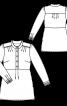 Блуза сорочкового крою з коміром-стійкою - фото 3