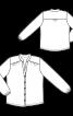 Блузка-сорочка з коміром-стойкою і пишними рукавами - фото 3