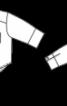 Коротка блуза з видовженою спинкою - фото 3