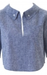 Коротка блуза з видовженою спинкою - фото 2