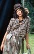 Коротка блузка з рукавами на манжетах - фото 1