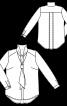 Блузка шовкова з коміром-шарфом - фото 3