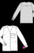 Блузка-сорочка без коміра - фото 3