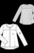 Блуза шовкова розкльошеного силуету - фото 3