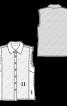 Блузка приталеного крою без рукавів - фото 3