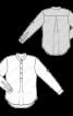 Блуза із видовженою застібкою поло - фото 3