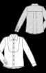 Блуза-сорочка з пластроном і знімним бантом - фото 3