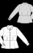 Блузка сорочкового крою з баскою - фото 3