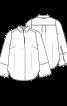 Блуза-сорочка прямого крою з широкими рукавами - фото 3