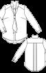 Блузка сорочкового крою з коміром-шарфом - фото 3
