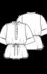 Блуза просторого крою з широкими рукавами - фото 2