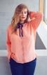 Блуза сорочкового крою з фестонами - фото 1