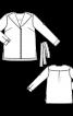 Блузка сорочкового крою А-силуету - фото 3