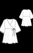 Блуза силуэта ампир с короткими рукавами - фото 3