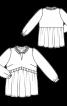 Блуза в стилі ампір з оборками і рюшами - фото 3