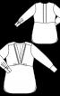 Туніка силуету ампір з V-подібним вирізом - фото 3