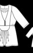 Блуза силуету ампір з рукавами реглан - фото 3