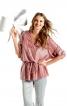 Блуза з V-подібним вирізом - фото 1