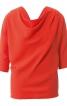 Блуза з хвилеподібним вирізом горловини - фото 2