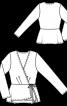 Блузка із запахом та асиметричною баскою - фото 3