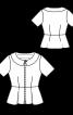 Блузка-жакет із баскою та відкладним коміром - фото 3