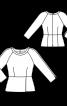 Блузка з баскою і рукавами реглан - фото 3