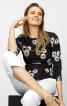 Блузка з баскою і рукавами реглан - фото 1