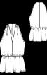 Топ приталеного крою з баскою - фото 3