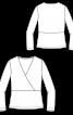 Блузка трикотажна з баскою - фото 3