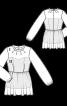 Блузка двошарова з баскою - фото 3